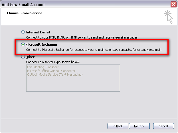 How to Setup a New Exchange Profile in Microsoft Outlook 2007